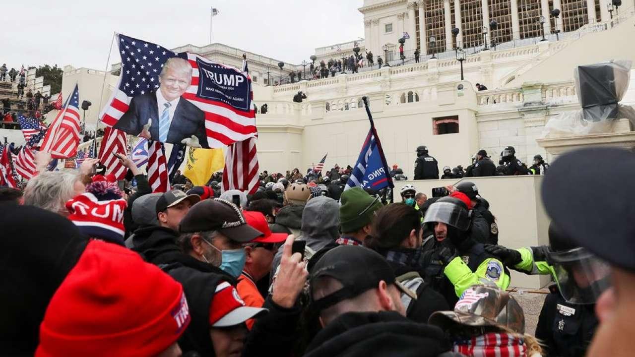 US Capitol clash