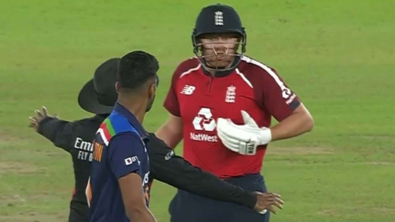 Highlight of the match': Twitterati has a say on Sundar getting miffed with Bairstow after a missed chance