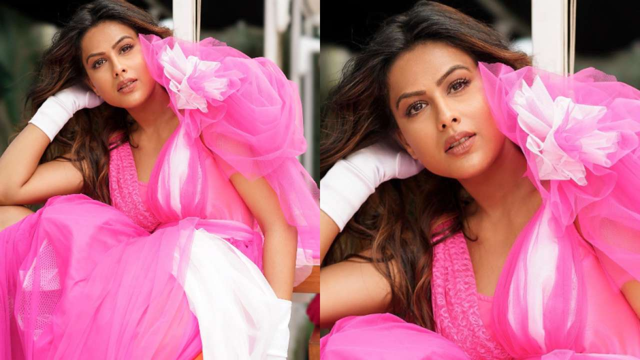 Nia Sharma is the belle of the ball in pink tulle dress