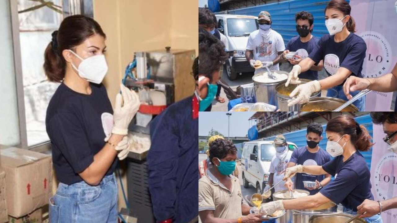 Jacqueline Fernandez distributes meals in Mumbai amid COVID-19 crisis, pics go VIRAL