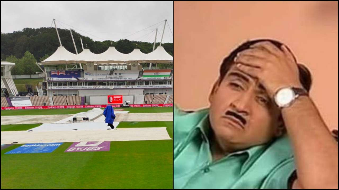 WTC Final: Netizens begin meme feast as 'rain wins the toss and decides to delay the match first'