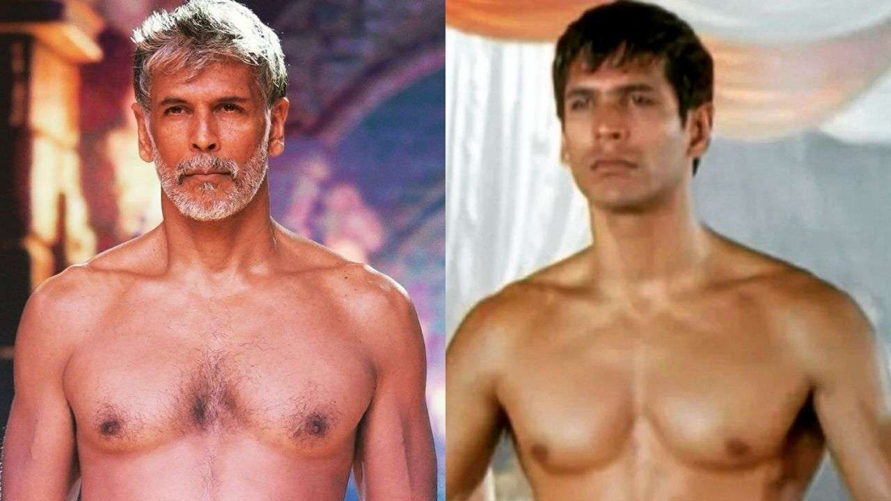 Milind Soman shares drool-worthy then and now photos of his fit physique, fan says 'he found fountain of eternal youth'