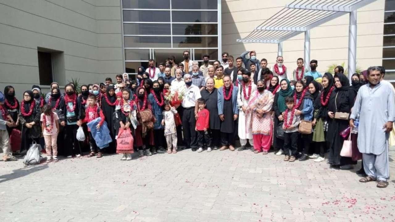 Afghanistan's junior women's soccer team arrive in Pakistan