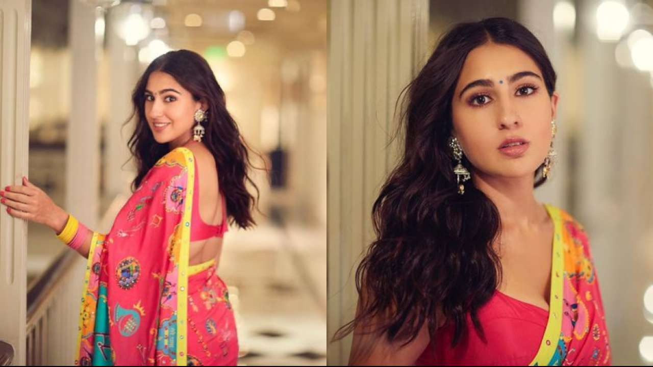 Sara Ali Khan makes hearts race in multi colour saree at Global Citizen event, fans go gaga over her look