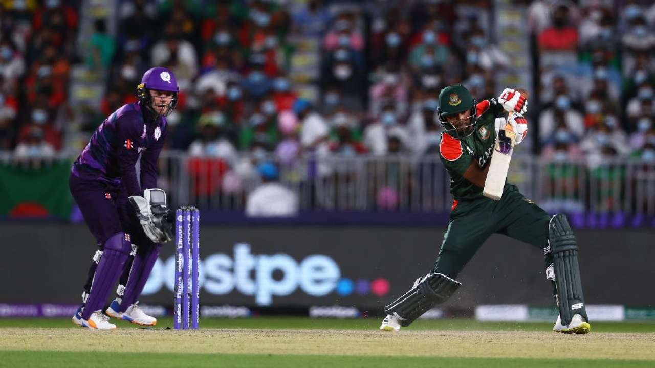 ICC T20 World Cup: Bangladesh fall short in chase as Scotland claim tournament's first upset