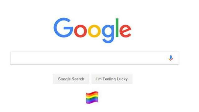 google homepage puts up gay pride flag after sc verdict facebook changes dp google homepage puts up gay pride