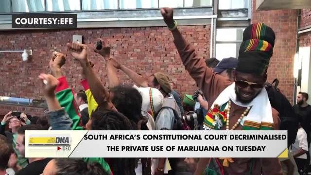 South Africa's high court decriminalizes private marijuana use, cultivation