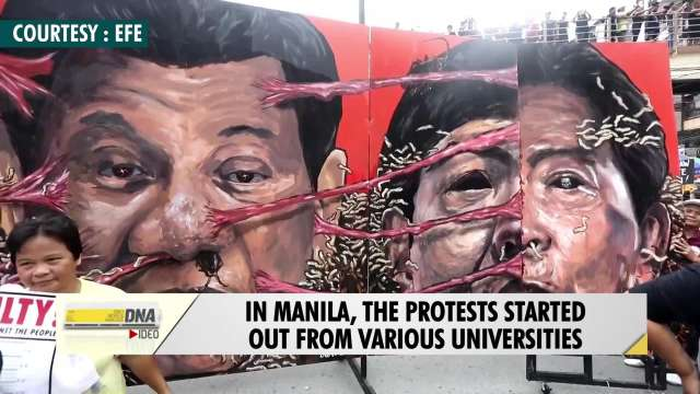 Thousands protest in Philippines against dictatorship, martial law