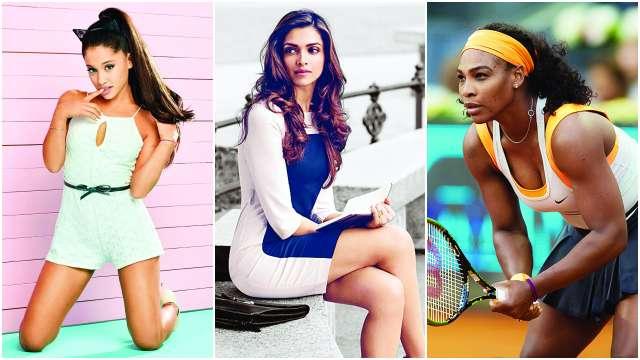 Ariana Grande, Deepika Padukone, Serena Williams