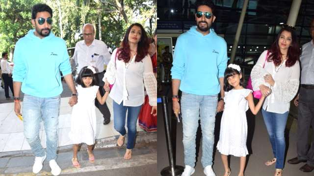 The Bachchans spotted at Mumbai airport