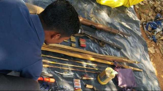 Cache of ammunitions recovered