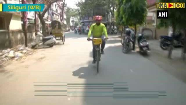 Maharashtra man cycles across country for the cause of mother tongue