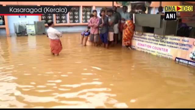 Water enters at Sree Madanantheswara Sidhivinayaka Temple in Kerala's Kasaragod