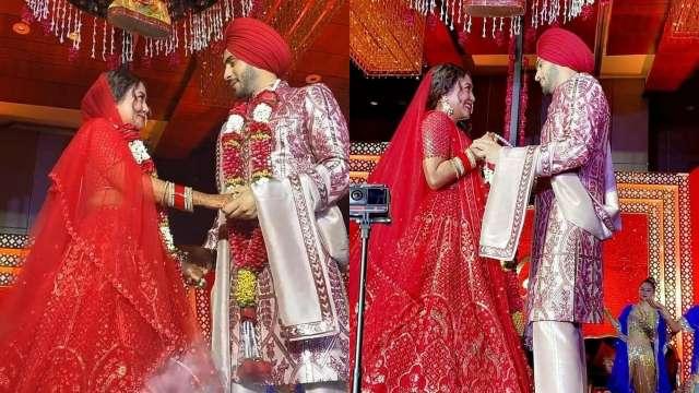 After Virushka, Neha Kakkar-Rohanpreet Singh take inspiration from NickYanka  for wedding reception