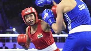Sarita Devi in action on Friday