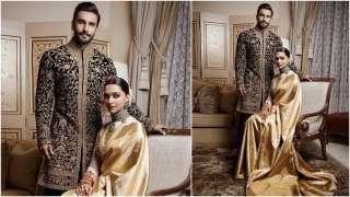 FIRST LOOK of Ranveer Singh and Deepika Padukone for their Bengaluru weddin...