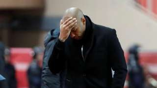 AS Monaco coach Thierry Henry reacts after the match