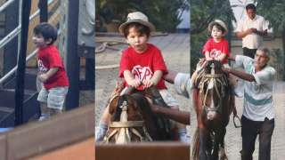 Pics and Video: Chote Nawab Taimur Ali Khan is the cutest cowboy in town