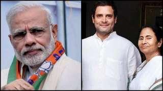 PM Narendra Modi, Rahul Gandhi and Mamata Banerjee