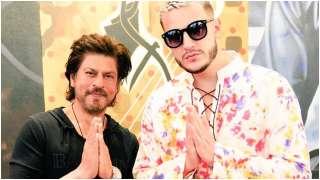DJ Snake strikes a pose with 'legend' Shah Rukh Khan
