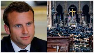 French President Macron meets UN officials over reconstruction of Notre Dam...