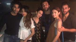 Alia Bhatt and beau Ranbir Kapoor party all night with Karisma Kapoor, Aada...