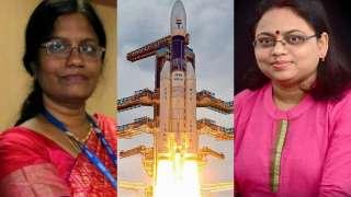 Chandrayaan 2 Mission Director Ritu Karidhal and Project Director Muthayya Vanitha