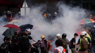 Hong Kong: At least 30 protestors suffer internal injuries after police fir...