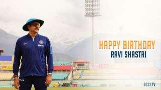 Cricketers wish Indian coach Ravi Shastri a happy birthday