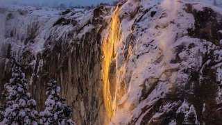 Photos of glowing orange waterfall in US goes viral - know the truth behind...