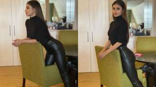 Mouni Roy looks breathtaking in sexy all-black outfit, drops stunning pics