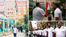 In Pics: Team India celebrate Independence Day, unfurl tricolour in England