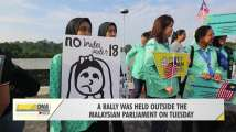 Activists deliver petition against child marriage in Malaysia