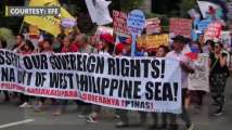 Protest against Chinese President's visit in Manila
