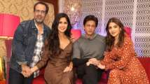 Shah Rukh Khan on a promotional spree with his team 'Zero'
