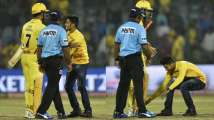 IPL 2019: God-wala love! MS Dhoni fans breach security to touch his feet du...