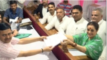 SP leader Poonam Sinha files nomination from Lucknow