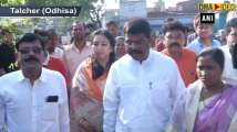 Union Minister Dharmendra Pradhan casts his vote in Odhisa's Talcher