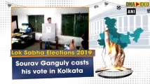 Lok Sabha polls: Former cricketer Sourav Ganguly casts his vote in Kolkata