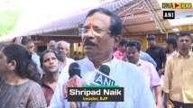 BJP's Shripad Naik offers prayers at Mahalakshmi Temple in Panaji post elec...