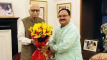 BJP working president J P Nadda meets ex-party chiefs Joshi, Advani