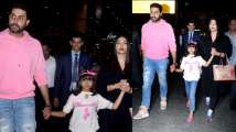 Bachchan family back from New York! Aaradhya compliments Abhishek's pi...
