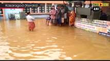 Water enters at Sree Madanantheswara Sidhivinayaka Temple in Kerala's Kasar...
