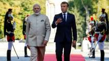 PM Modi in France: Macron pushes for India's permanent seat in UN Secu...
