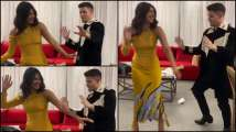 Nick Jonas shows his Bollywood moves while shaking his leg on 'Ha...