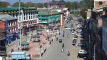 A view of Lal Chowk in Srinagar