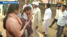 Babita Phogat casts her vote at Haryana's Balali constituency