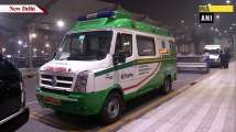 Green corridor provided for ambulance for speedy transportation of human he...