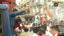 Youth Congress protests outside BJP office in Kolkata on Rafale, SPG cover