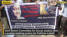 Fathima suicide case: Protest held outside University of Mumbai